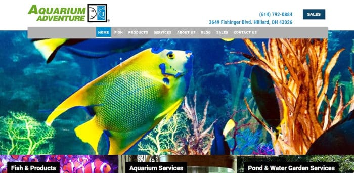 Aquarium Adventure Home Page