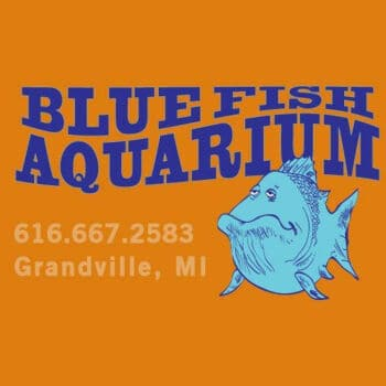 Blue Fish Aquarium Logo